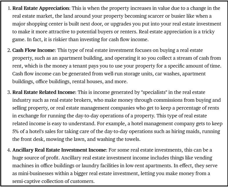 The 4 Ways Real Estate Investors Make Money