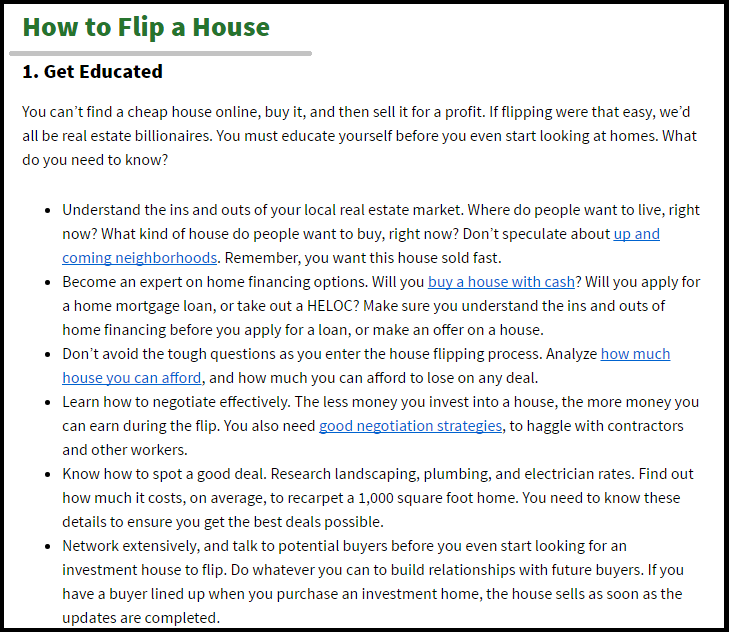 DC Fawcett Reviews Flipping Houses