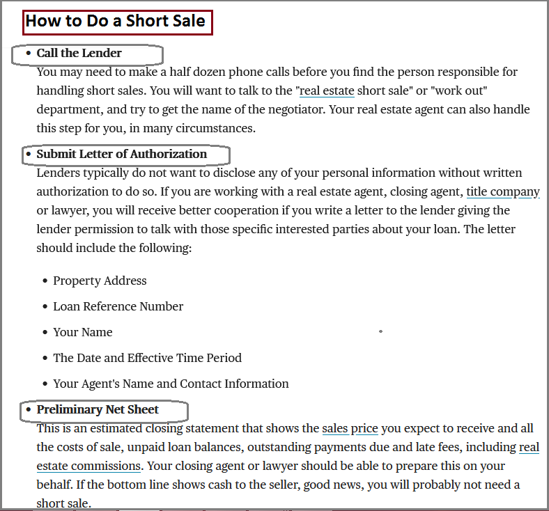 Dc Fawcett Real Estate - How to Do a Short Sale