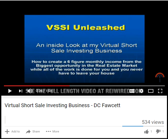 Dc Fawcett Real Estate virtual short sale investing