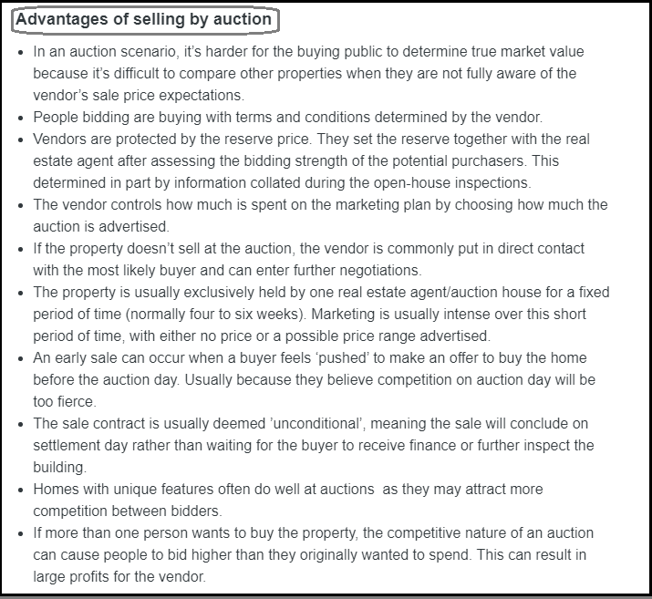 DC Fawcett Complaints Advantages of selling by auction