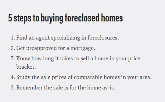 DC Fawcett Real Estate 5 steps for Foreclosed Homes