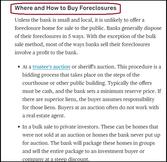 DC Fawcett Reviews how to Buy Foreclosures